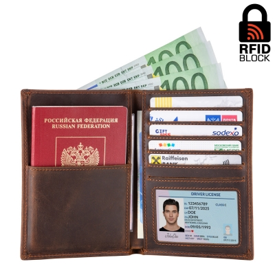 Бумажник с RFID защитой Northwest (coffee)