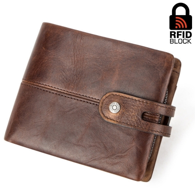 Портмоне с RFID защитой Ross zip (brown)