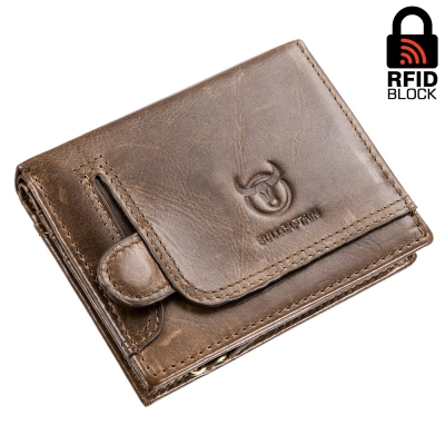 Портмоне с RFID защитой Maverick (brown beige)