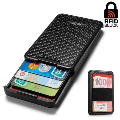 Картхолдер с RFID защитой Gross Carbon (black carbon)