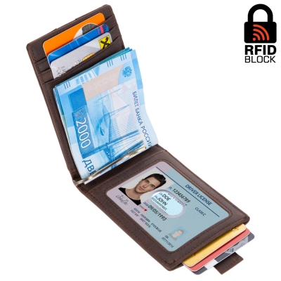 Картхолдер с RFID защитой Focus (brown)